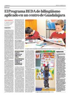Reportaje en Magisterio, sobre el Colegio Sagrado Corazón Agustinos Recoletos de Guadalajara, que está en la segunda etapa (Modelo Bilingüe) de implantación del Programa BEDA.