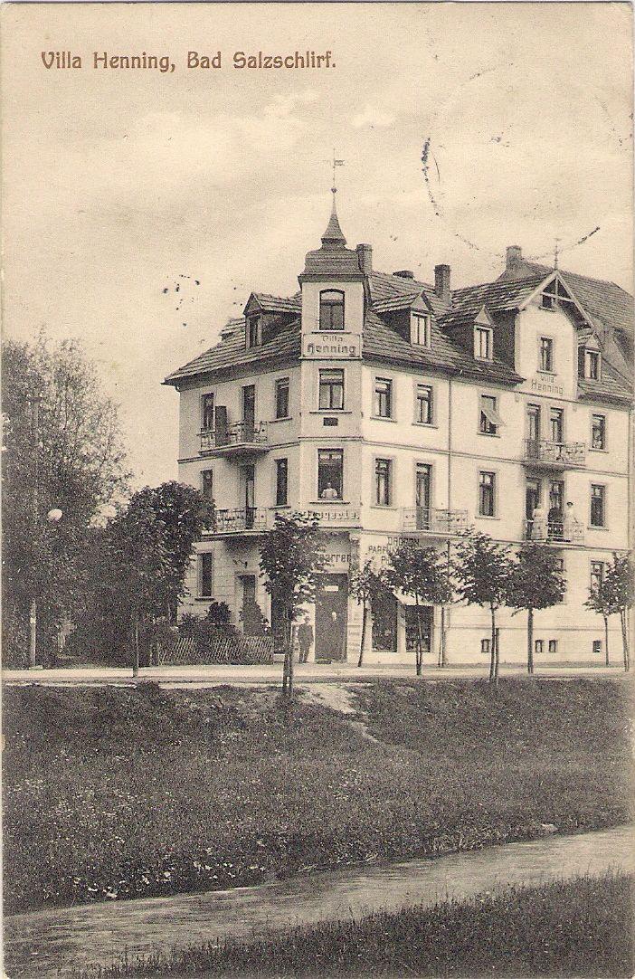 Haus Henning, Lindenstraße, um 1910, heute leider auch verschandelt.