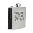 Best mans Hip Flask which can be engraved with a message.