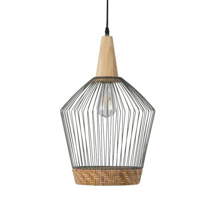 Zuiver Hanging Lamp Birdy Long Metallic Gray O31x48x150cm Hanglamp Hangende Lampen Birdy