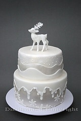 winter christmas cake decoration idea