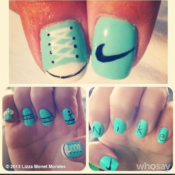 Custom #Nike and #TiffanyAndCo #WeRunSF Nails in preparation for my FIRST marathon last weekend