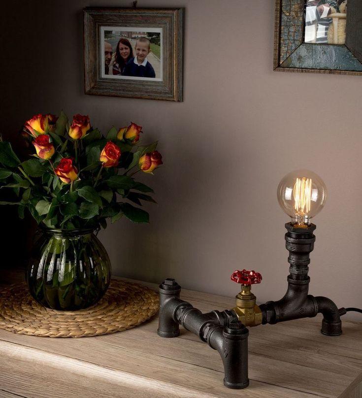 Vintage Lighting Bedroom Lamps Antique Lamp Design with Pipe light Retro Lamp #antiquelamps
