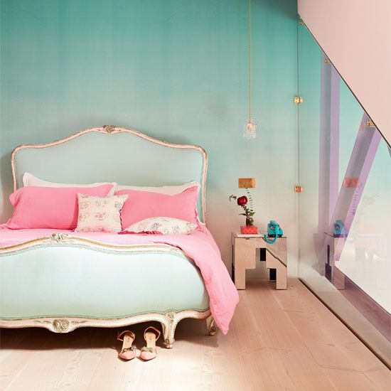 Pastels don't have to be sugary sweet, as this indurstial home shows us
