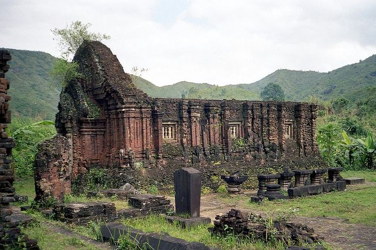 Ruins of My Son Temple found in Hue, they are the remnants of a Hindu temple constructed between the 4th and 14th Century AD by the Kings of Champa (Chiem Thanh). It is suspected by archaeologists that the site may at one time been host to 70 temples. The deity of workship of this site was Shiva, known more commonly to the locals as Bhadresvara.