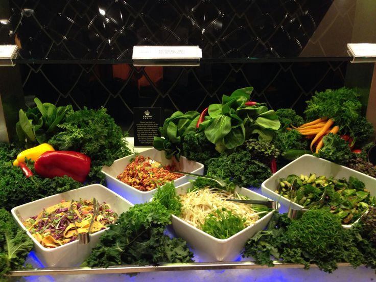 My Raw salads at Crown Atrium buffet