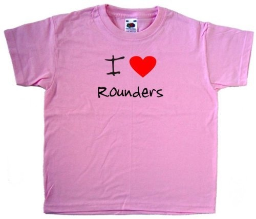 Review I Love Heart Rounders Pink Kids T-Shirt. . http://www.amazon.com/exec/obidos/ASIN/B007C04CU0/tipscomputer-20
