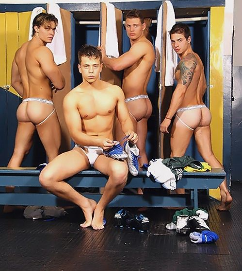 Very Soccer players locker room underwear were visited