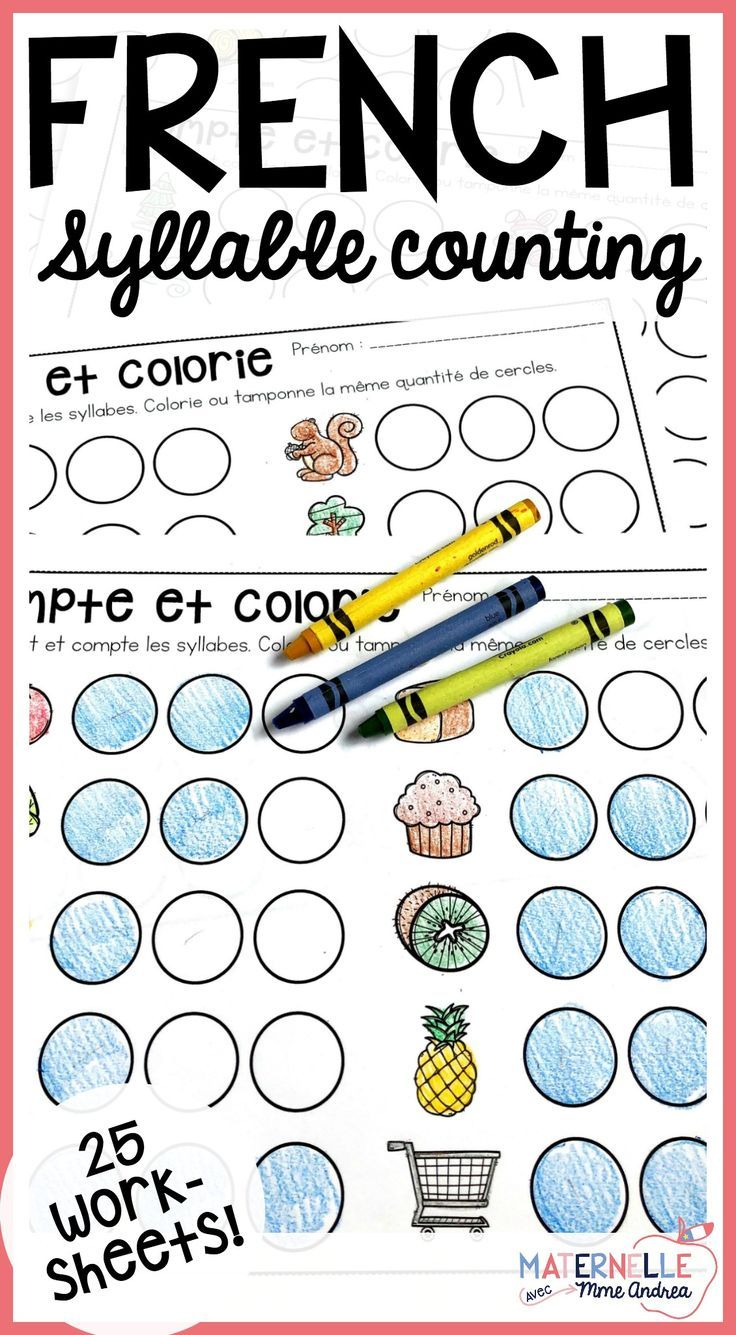 25 French Syllable Counting Worksheets Students Will Say Each Word Clap How Many Syllables A Syllable Worksheet Kindergarten Worksheets Counting Worksheets [ 1335 x 736 Pixel ]