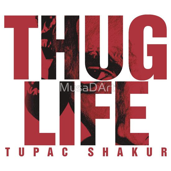 THUGY THUG Available to buy on… T-Shirts, Hoodies and Stickers #Tupac #2PAC
