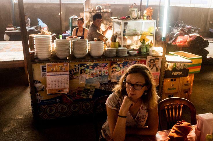 Foe soup stall, Laos