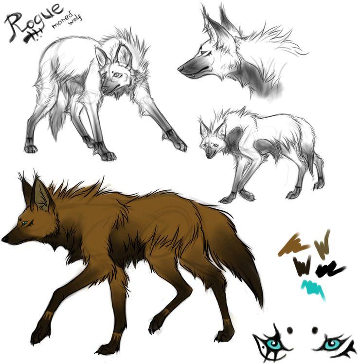 гривистый волк арт - Поиск в Google