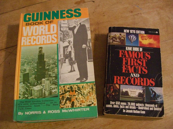 1974 Guinness Book of World Records & 1976 Kane Book of Famous First Facts and Records - Vntage Books by LucysLuckyDeals on Etsy