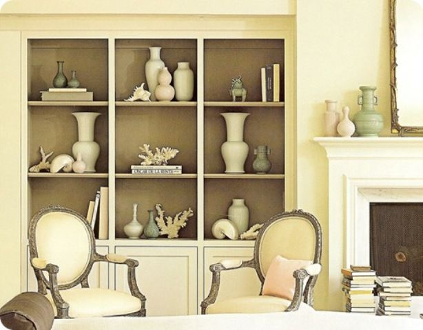 decorative bookshelves | Decorative Bookcase in Creamy How to Arrange Books  in a Decorative .