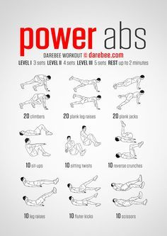 power abs  darebee workout  abs workout routines best