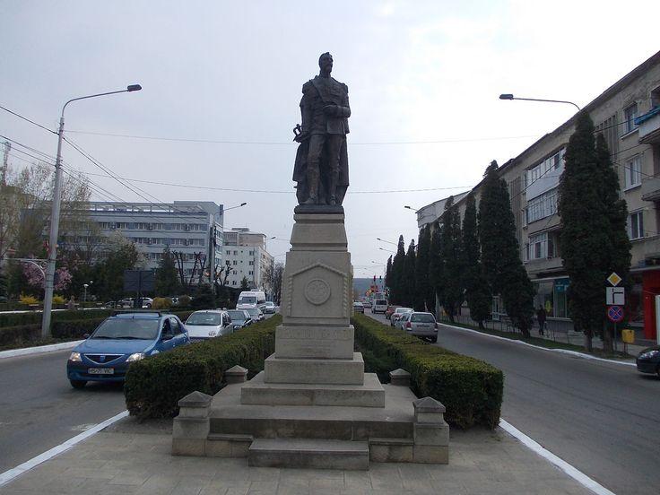 Statue of Alexandru Ioan Cuza, downtown Bârlad