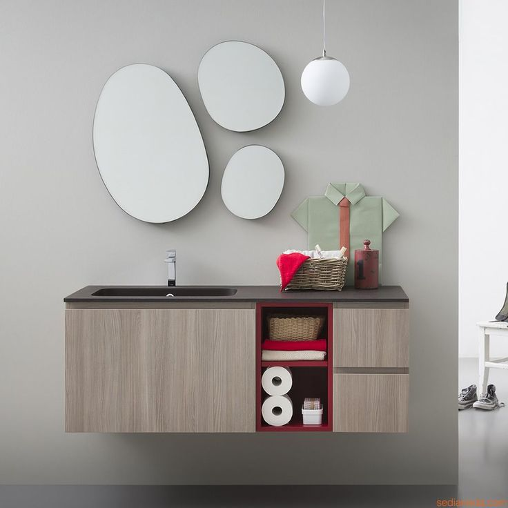Lapis B by Birex - Sink cabinet in rope elm colour finish