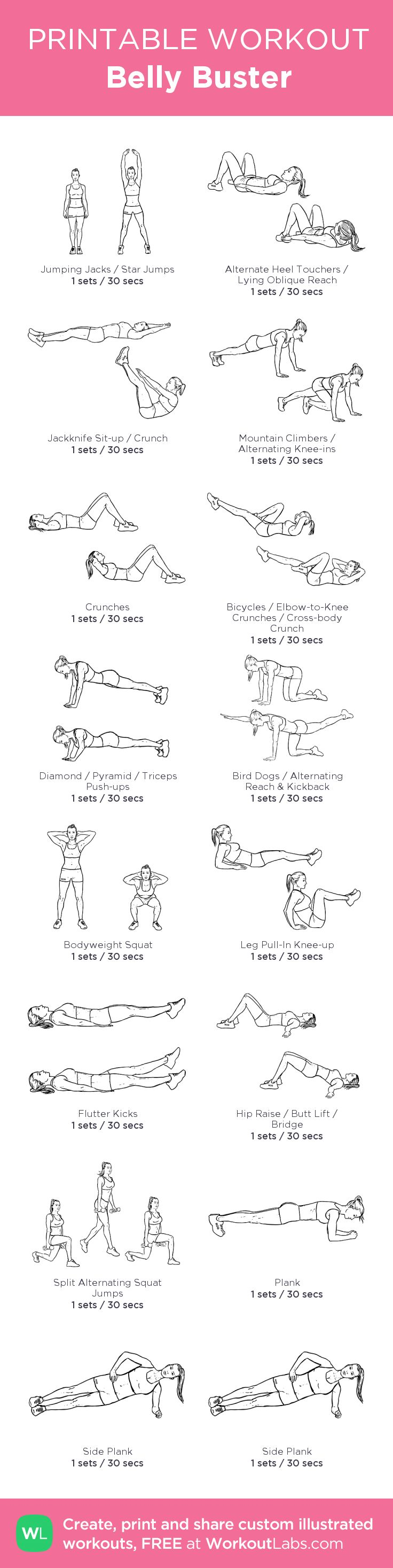 My Personal Belly Buster Workout