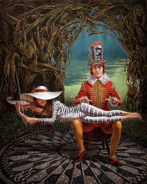 "What about this one? This is ""Imagine III"" in Michael Cheval's Imagine series.  It is an original Oil on Canvas 25 x 21"