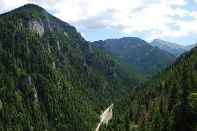 Widok na Dolinę Kościeliską ze szlaku na Halę Stoły