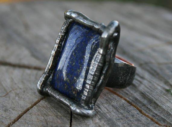 LAPIS LAZULI ring SIGNET ring lapis lazuli signet men ring