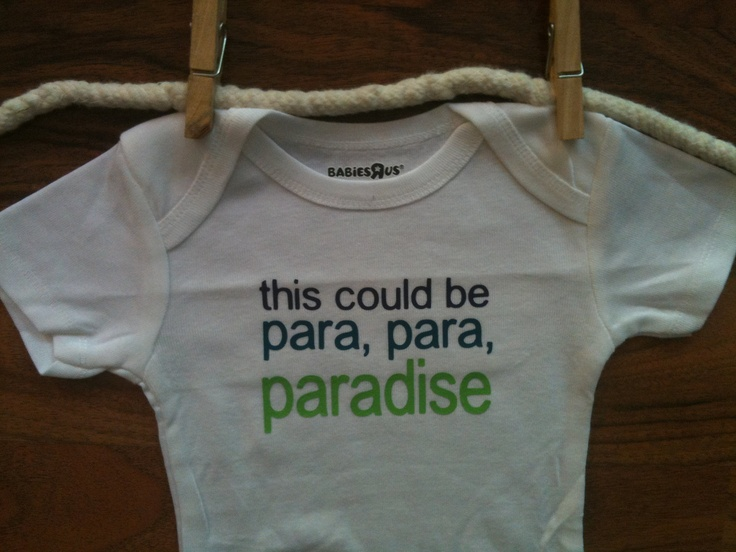 This Could Be Paradise Baby Onesie Bodysuit Coldplay Paradise Song Baby Clothes Boy Girl. $13.89, via Etsy.