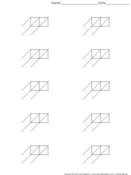 lattice multiplication blank practice sheet 2 digit by 1 digit multiplication king virtue 39 s. Black Bedroom Furniture Sets. Home Design Ideas