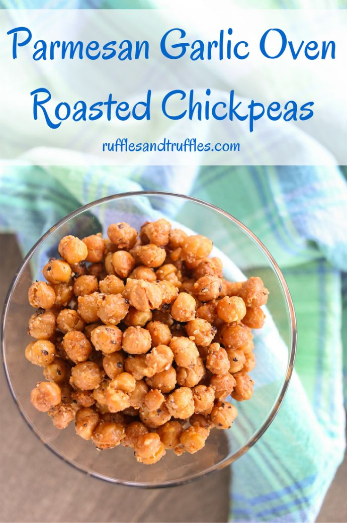 Parmesan Garlic Oven Roasted Chickpeas for #SundaySupper