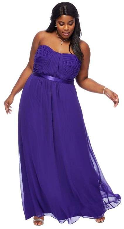 f15bd6695ba DEBUT Debut - Purple 'Sophia' Bandeau Plus Size Bridesmaid Dress. This  dress from