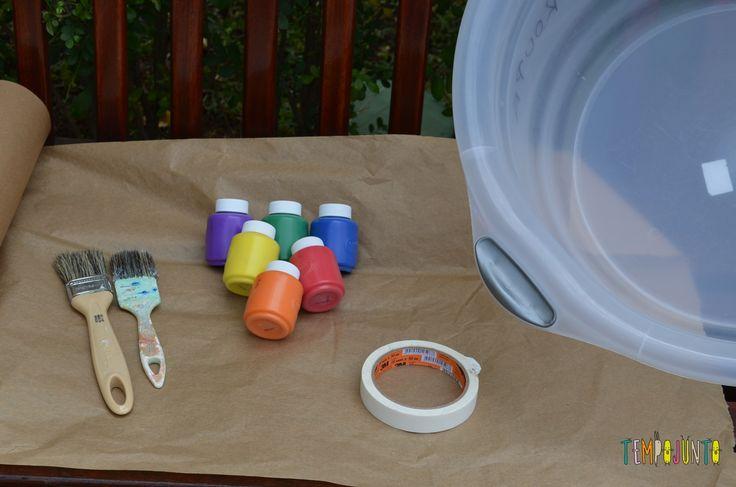 8 brincadeiras de artes ao ar livre - material de pintura
