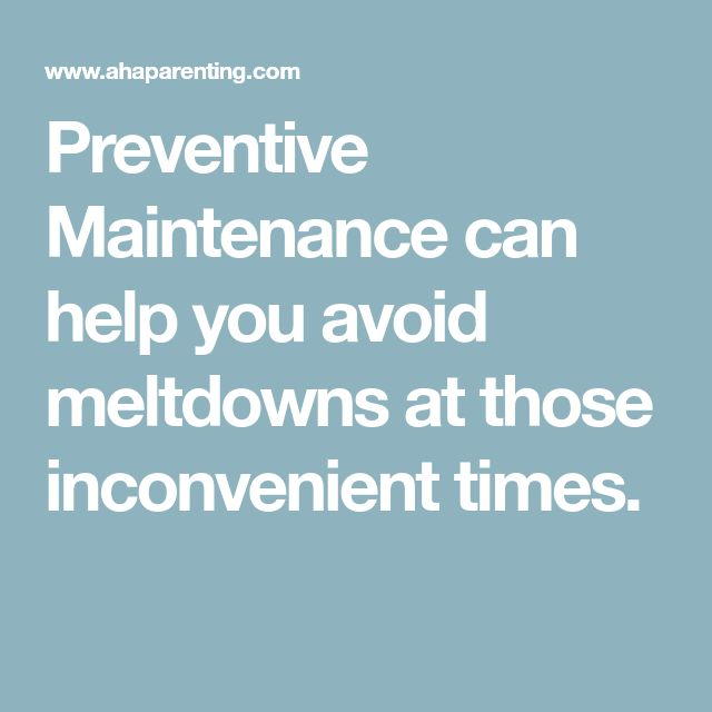 Preventive Maintenance can help you avoid meltdowns at those inconvenient times.