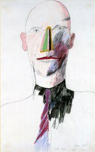 David Hockney - Evil Man, 1963crayon on paper, 20x12 in.