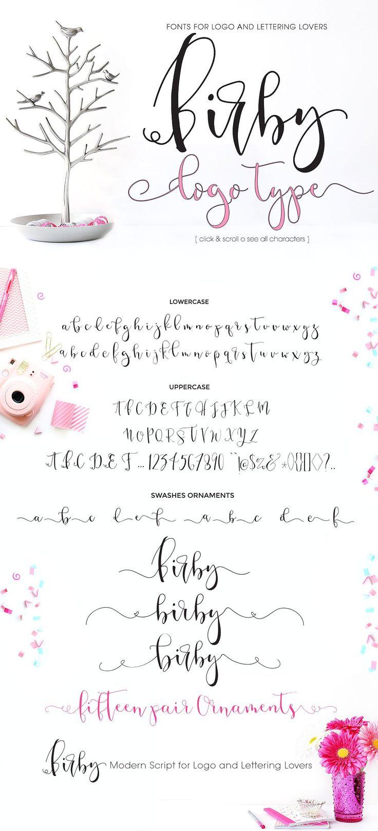 Birby Font - Bold and Light by mycandythemes on @creativemarket