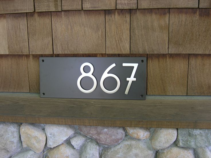 20 best modern address plaques images on pinterest for Bungalow house numbers