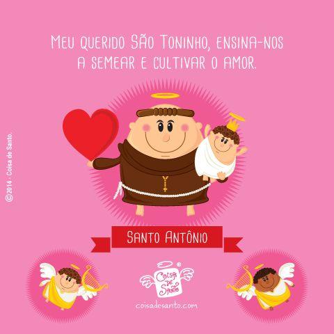 Hoje é DIA DE SANTO ANTÔNIO, O SANTO CASAMENTEIRO, PADROEIRO DOS MATRIMÔNIOS!   O Coisa de Santo deseja a todos um dia cheio de amor e alegria, e que São Toninho esteja sempre presente com sua benção! #cristianismo