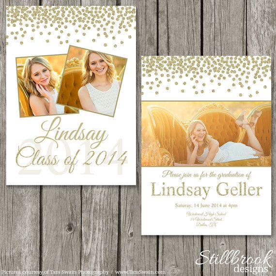 Graduation Announcement Template - Senior Grad Photo Card Design - High School College Graduation - GA01