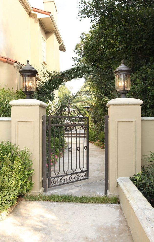 Fancy Gate Landscape Mediterranean With Column Traditional
