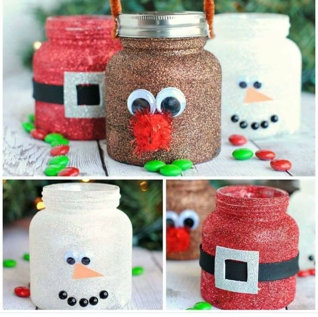 Decorated Jars For Christmas Classy 35 Best Baby Food Jar Crafts Images On Pinterest  Baby Food Jars Decorating Inspiration