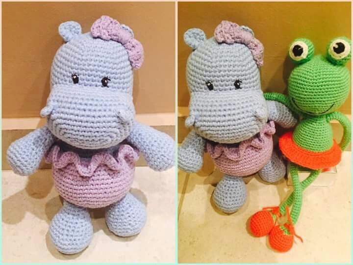 Crochet happy hippo
