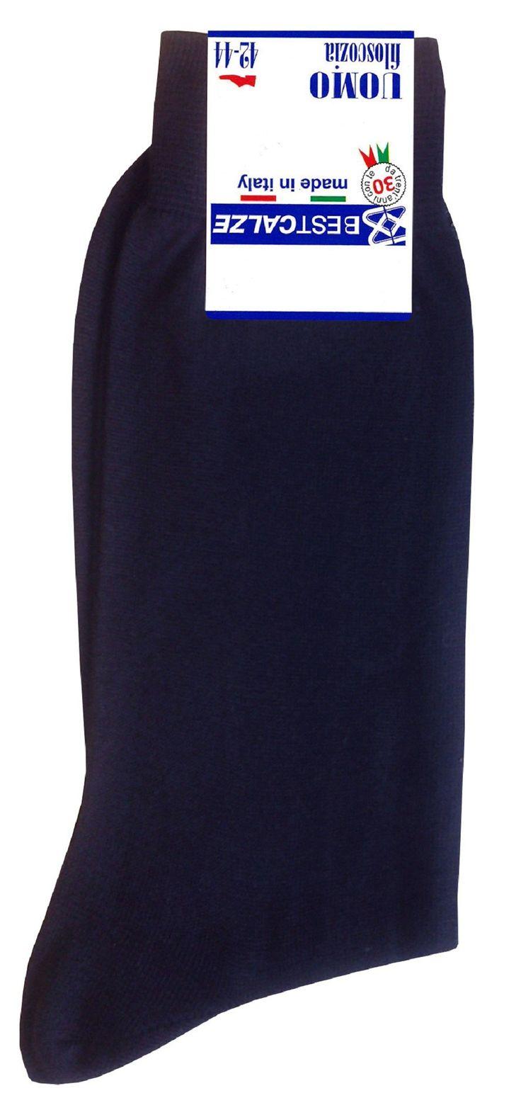 Calze corte da uomo in cotone filo di scozia mercerizzato,  confezione da 6 paia