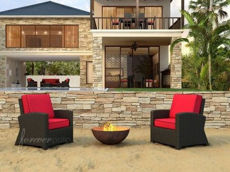 Forever Patio Barbados 2 Seat Chat Set. Outdoor Lounge ChairsOutdoor Wicker  FurnitureOutside ...