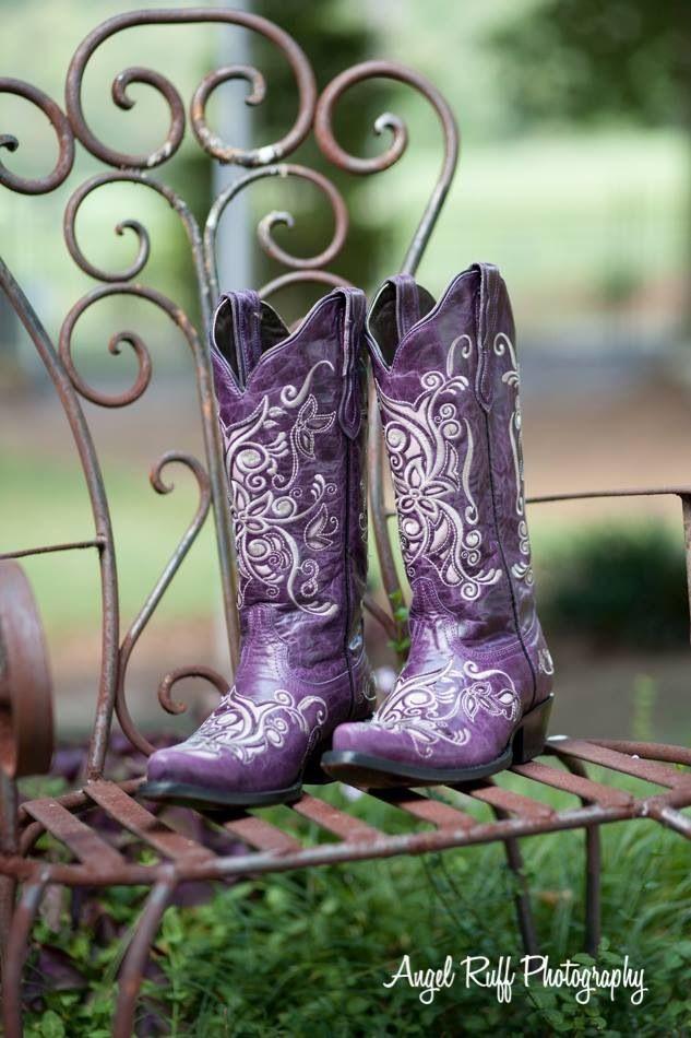 Purple boots`