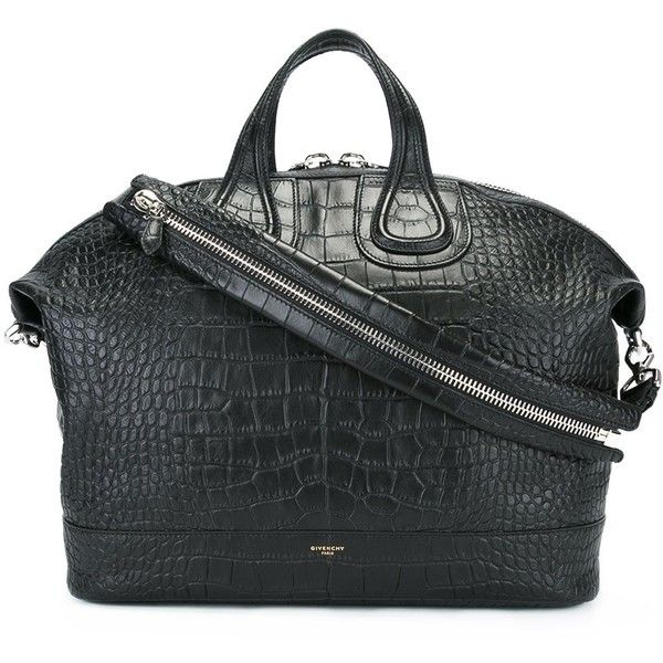 Givenchy 'Nightingale' holdall (13.830 RON) ❤ liked on Polyvore featuring men's fashion, men's bags, bags, black, givenchy mens bags and mens holdall bag