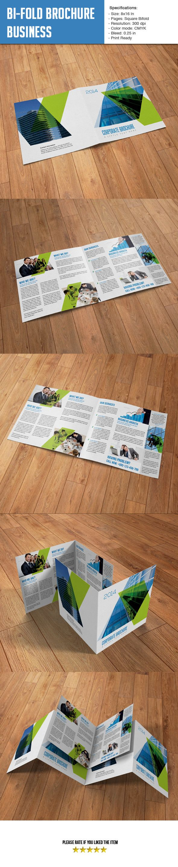 Square Bifold Business Brochure Template