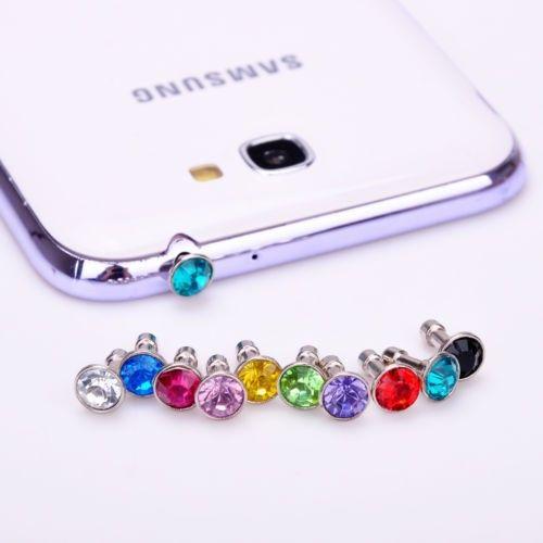 10 unids Bling Diamante de 3.5mm Para Auriculares Jack Enchufe Anti Del Polvo Tapa tapón de accesorios para gadgets para iphone 5 4s samsung htc del teléfono móvil - envíos gratis en todo el mundo