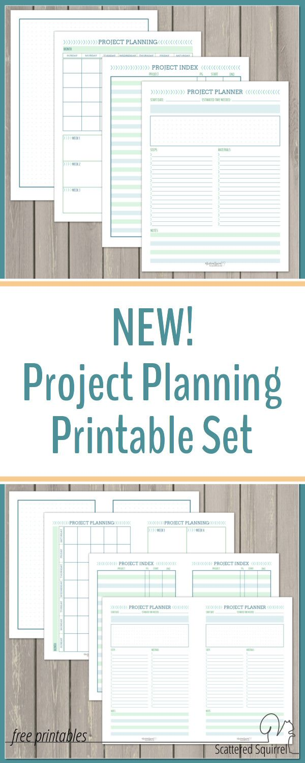 Keep track of all your projects with this Project Planning Printable set. From start to finish these planner printables will help you plan and finish those projects.
