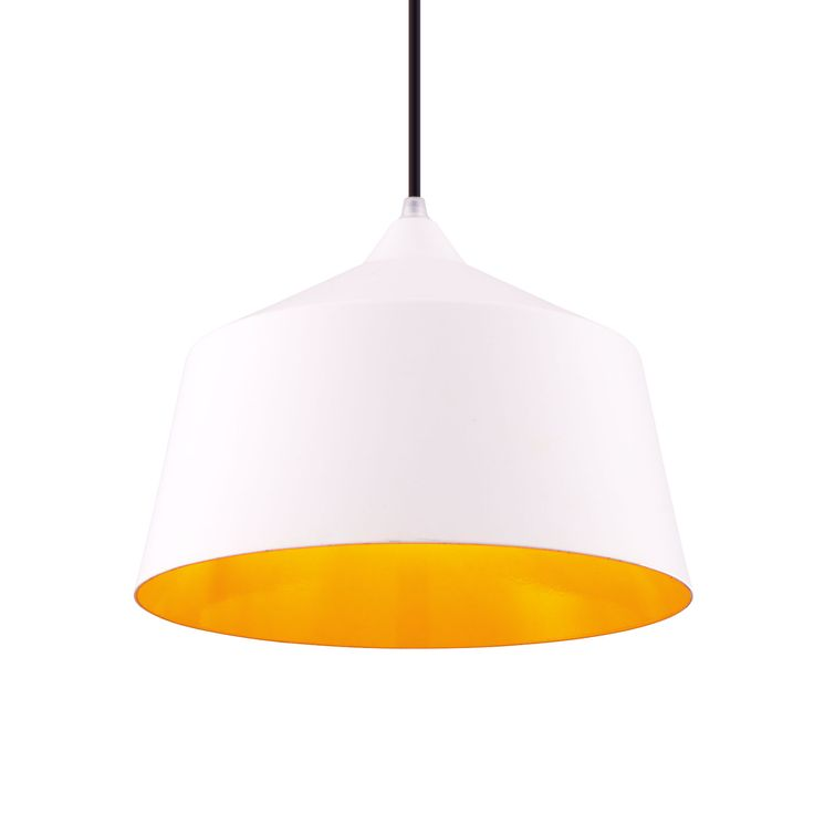 Portia Pendant Light in White - Small | dotandbo.com - not enough wattage, but paint something else this color combo.