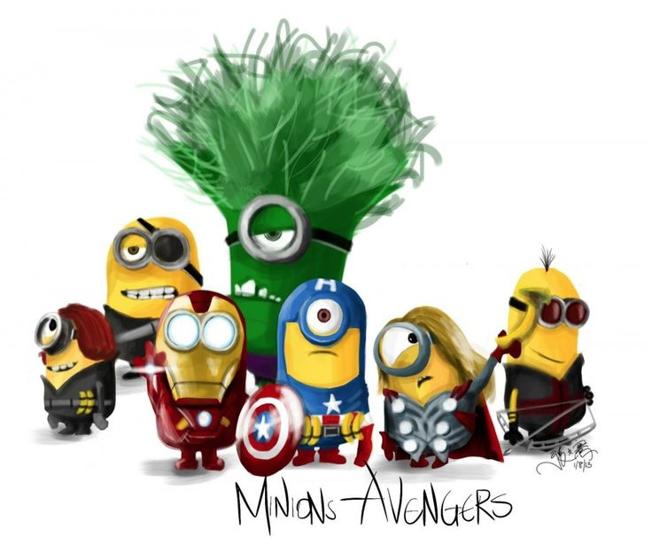 Minions Avengers. - omg this is amazing!!