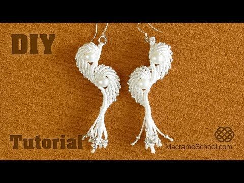 Macramé Angel Wings - Earrings Tutorial - YouTube