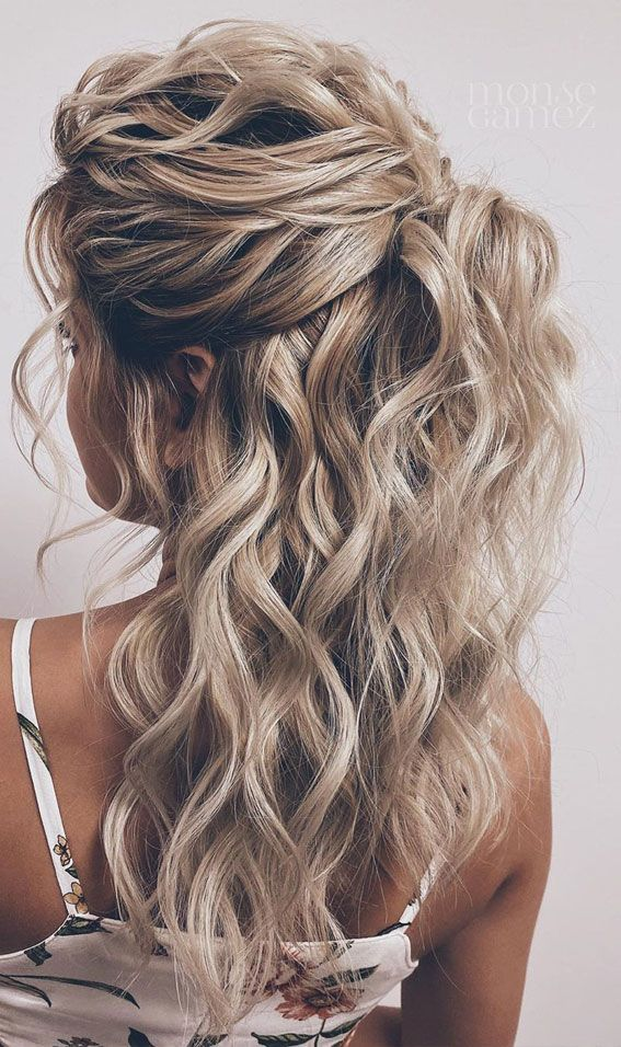 Gorgeous Half Up Hairstyles 45 Stylish Ideas In 2020 Bridemaids Hairstyles Hair Styles Half Up Hair